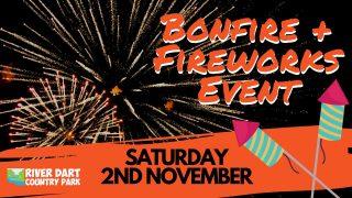 Bonfire and Fireworks Banner